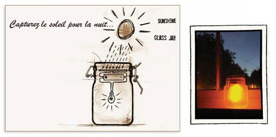 SunJar, le pot de confiture lumineux à énergie solaire