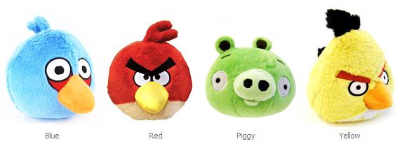 peluche angry birds, la peluche originale del'App Angry Birds