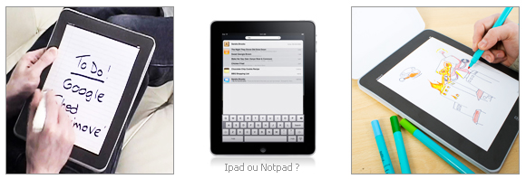 NotPad, le calepin Ipad