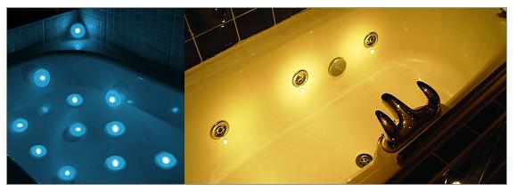 Spa lights, lumières pour baignoires